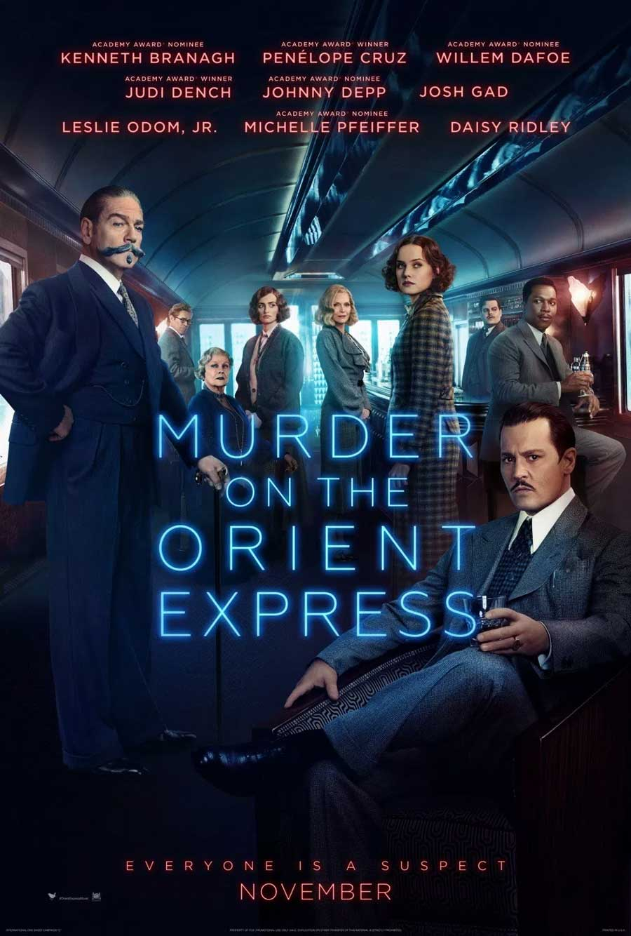 Poster for Murder on the Orient Express (Luxury)