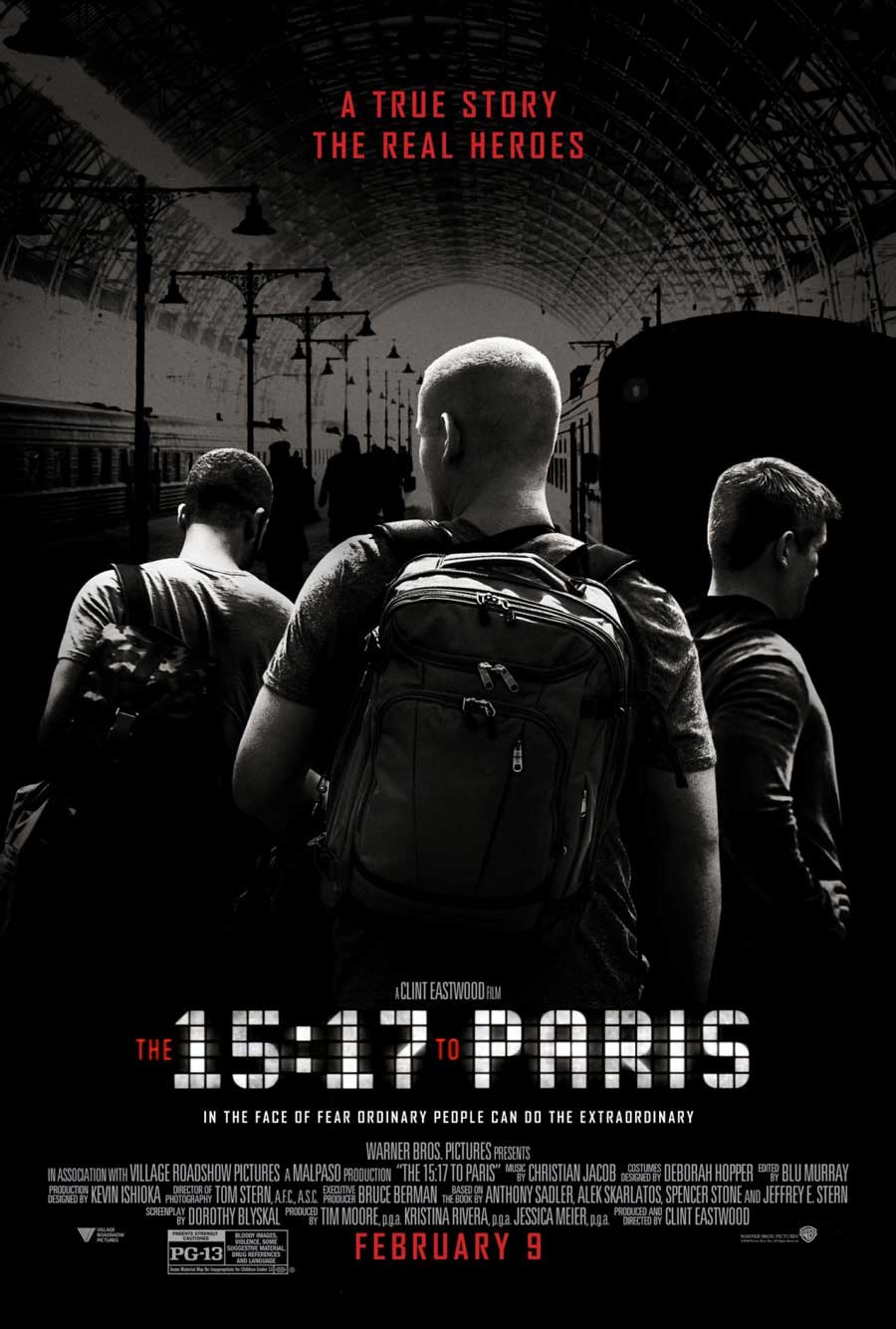 Poster for The 15:17 to Paris (LUX)