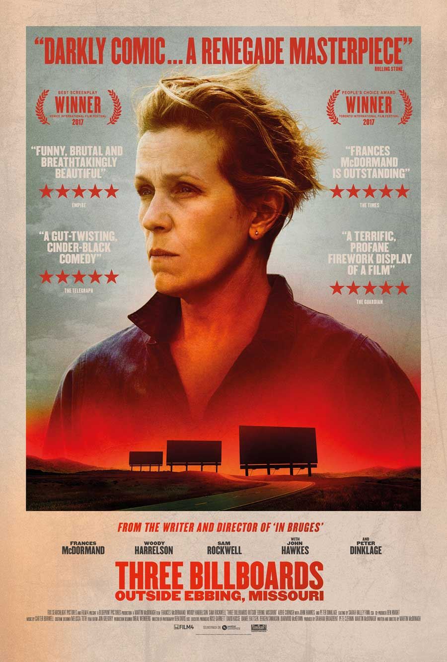 Poster for Three Billboards Outside Ebbing, Missouri (LUX)