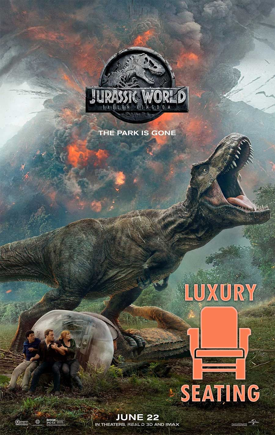 Poster for Jurassic World 2 (LUX)